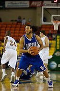 November 26, 2008: Hampton forward Theo Smalling controls the tip off in the opening game of the 2008 Great Alaska Shootout at the Sullivan Arena against the University of Alaska-Anchorage Seawolves.