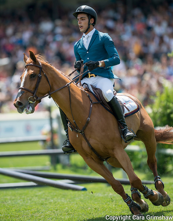 EMANUEL ANDRADE (VEN) rides CLOUWNI in the 1.50m Derby Nexen Cup during National CSI 5* at Spruce Meadows presented by Rolex, June 7 2015. Calgary.