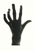 "bronze sculpted hand. Sculpture reproduction of Rodin ""Hand of a Pianist""."