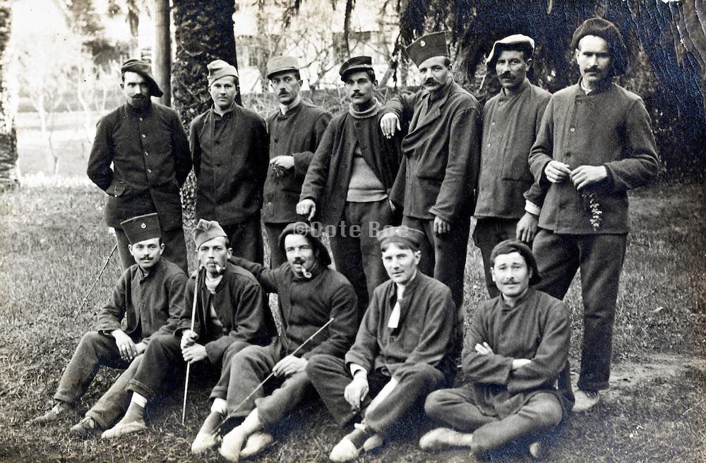 1918 Cannes France group portrait soldiers
