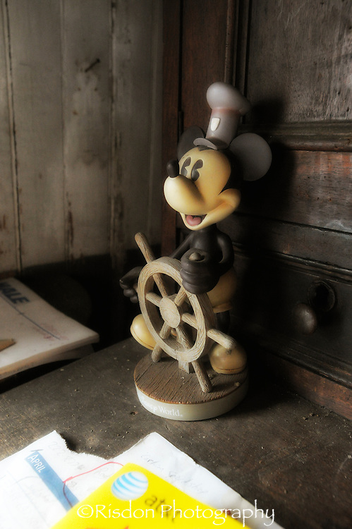 Captain Mickey Mouse with ships wheel