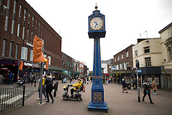 © Licensed to London News Pictures . 03/02/2017. Stoke-on-Trent, UK . People in Hanley town centre in the constituency of Stoke-on-Trent Central . The by-election in the constituency is due to take place on 23rd February . Photo credit: Joel Goodman/LNP