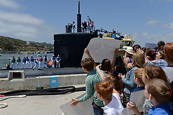 SAN DIEGO (May 18, 2017) Family and friends welcome back the crew of the Los Angeles-class fast attack submarine USS Alexandria (SSN 757). Alexandria is returning to Naval Base Point Loma following a six-month deployment to the western Pacific. (U.S. Navy photo by Mass Communication Specialist 2nd Class Derek Harkins/Released) 170518-N-TW634-159<br /> Join the conversation:<br /> http://www.navy.mil/viewGallery.asp<br /> http://www.facebook.com/USNavy<br /> http://www.twitter.com/USNavy<br /> http://navylive.dodlive.mil<br /> http://pinterest.com<br /> https://plus.google.com