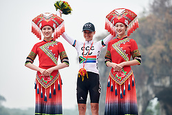 Ashleigh Moolman Pasio (RSA) wins the climber's competition at GREE Tour of Guangxi Women's WorldTour 2019 a 145.8 km road race in Guilin, China on October 22, 2019. Photo by Sean Robinson/velofocus.com