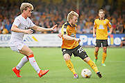 Cambridge Utd defender Max Clark (20) passes the ball  during the EFL Sky Bet League 2 match between Cambridge United and Luton Town at the R Costings Abbey Stadium, Cambridge, England on 27 August 2016. Photo by Nigel Cole.