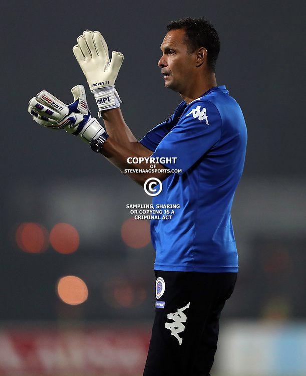 Andre Arendse GK Coach of SuperSport United during the 2016 Premier Soccer League match between Maritzburg Utd and SuperSport United held at the Harry Gwala Stadium in Pietermaritzburg, South Africa on the 21st September 2016<br /> <br /> Photo by:   Steve Haag / Real Time Images
