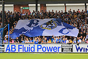Bristol Rovers Flag,  during the EFL Sky Bet League 1 match between Bristol Rovers and Rochdale at the Memorial Stadium, Bristol, England on 10 September 2016. Photo by Daniel Youngs.