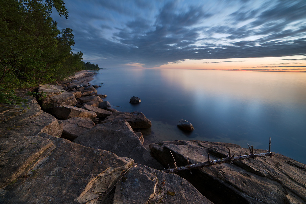 A calm night on Lake Superior - Pictured Rocks National Lakeshore