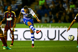 Roy Beerens of Reading shot is blocked - Mandatory by-line: Jason Brown/JMP - 09/09/2016 - FOOTBALL - Madejski Stadium - Reading, England - Reading v Ipswich Town - Sky Bet Championship