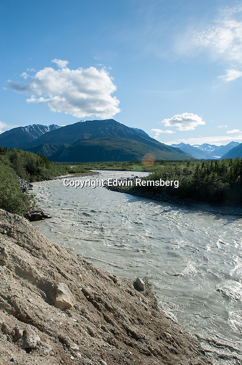 Tanana river in Black rapids Alaska, off of Richardson Highway