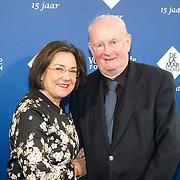 NLD/Amsterdam/20151123 - 5 jaar Delamar theater en 10 Jaar Van den Ende Foundation viering, Gerdi Verbeet en partner Wim Meijer