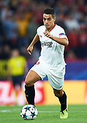 SEVILLE, SPAIN - NOVEMBER 01:  Wissam Ben Yedder of Sevilla FC in action during the UEFA Champions League group E match between Sevilla FC and Spartak Moskva at Estadio Ramon Sanchez Pizjuan on November 1, 2017 in Seville, Spain.  (Photo by Aitor Alcalde Colomer/Getty Images)