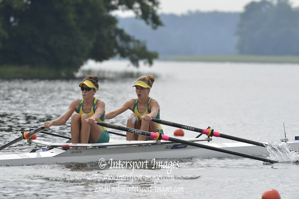 Trackai. LITHUANIA.  AUS BLW2X. Bow Thea ADAMSON and Hannah JANSEN. 2012 FISA U23 Rowing Championships, Lake Galve.   11:29:05 Thursday 12/07/2012 [Mandatory credit: Peter Spurrier/Intersport Images]..Rowing, U23, 2012.