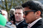 08/04/2013 XXjob Praveen Halappanavar arriving at Galway Coroner Court for the Inquest into the death of his wife Savita at Galway University Hospital. Picture:Andrew Downes.