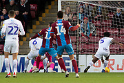 Goal Scunthorpe United forward Kyle Wootton (29) scores a goal to take the lead 1-0 during the EFL Sky Bet League 1 match between Scunthorpe United and Wycombe Wanderers at Glanford Park, Scunthorpe, England on 29 December 2018.