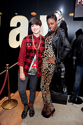 Left to right, KATE MOROSS and ALISHA WHITE at a party to celebrate the Firetrap Watches and Kate Moross Collaboration Launch, held at Firetrap, 21 Earlham Street, London, UK on 13th October 2010.