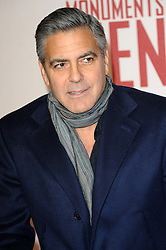 George Clooney attends the UK Premiere of 'The Monuments Men' at Odeon Leicester Square , United Kingdom. Tuesday, 11th February 2014. Picture by Chris Joseph / i-Images