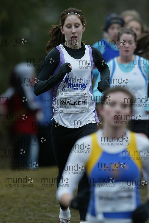(Guelph, Ontario---28 November 2009) Leslie Walker of London Runner Distance Club runs in the Junior Women's at the 2009 AGSI Cross Country Championships in Guelph, Ontario, November 28, 2009..Sean Burges/ Mundo Sport Images, 2009