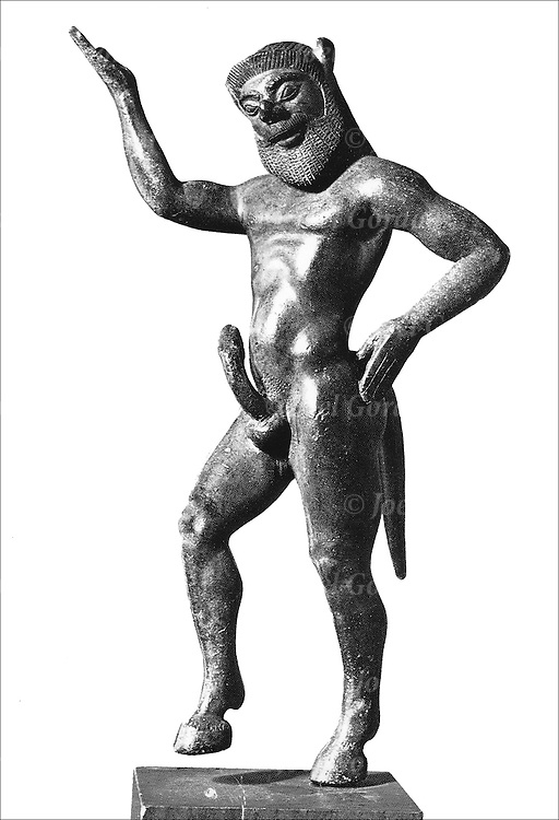 Greek statue with large erection