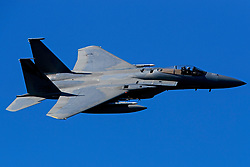 United States Air Force McDonnell-Douglas F-15C Eagle (80-048) from the 144th Fighter Wing, California Air National Guard Jedi Transition Star Wars Canyon, Death Valley National Park, California, United States of America