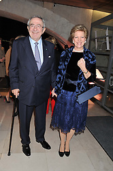 KING CONSTANTINE & QUEEN ANNE-MARIE OF GREECE at a private view of 'Valentino: Master Of Couture' at Somerset House, London on 28th November 2012.