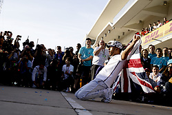 November 3, 2019, Austin, United States of America: Motorsports: FIA Formula One World Championship 2019, Grand Prix of United States, ..#44 Lewis Hamilton (GBR, Mercedes AMG Petronas Motorsport) celebrates winning the F1 World Drivers Championship 2019  (Credit Image: © Hoch Zwei via ZUMA Wire)