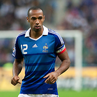 05 September 2009: French forward and captain Thierry Henry is seen during the World Cup 2010 qualifying football match France vs. Romania (1-1), on September 5, 2009 at the Stade de France stadium in Saint-Denis, near Paris, France.