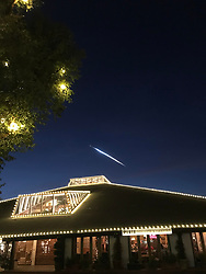 SpaceX rocket launch seen over Los Angeles sparks fears of UFO to locals who were unaware of the SpaceX launch. 22 Dec 2017 Pictured: SpaceX rocket. Photo credit: MEGA TheMegaAgency.com +1 888 505 6342
