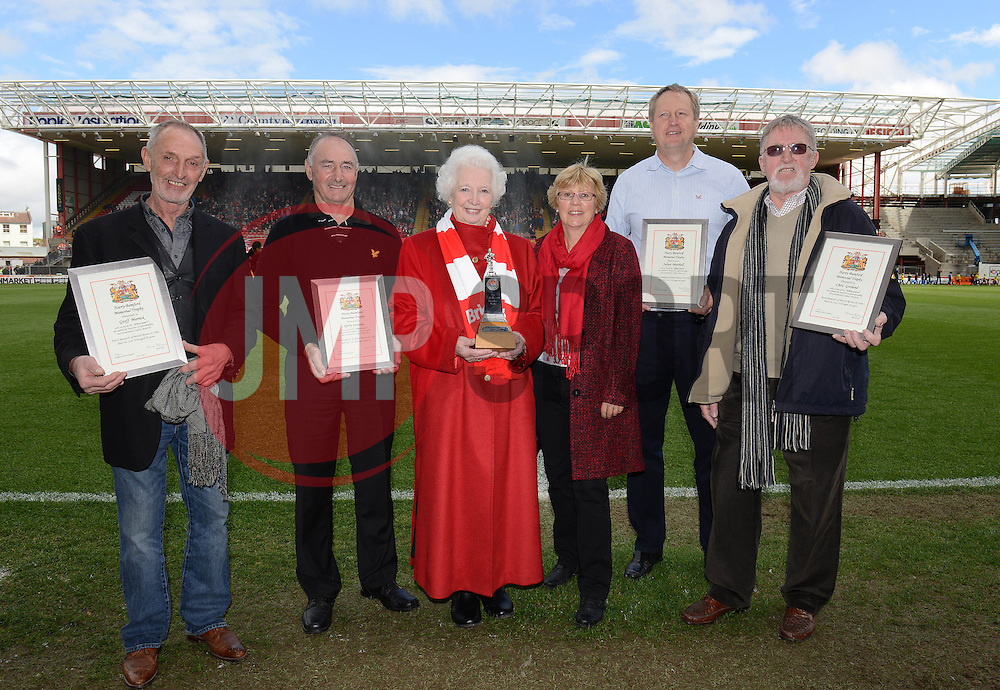 Harry Bamford presentation - Photo mandatory by-line: Dougie Allward/JMP - Mobile: 07966 386802 - 03/05/2015 - SPORT - Football - Bristol - Ashton Gate - Bristol City v Walsall - Sky Bet League One