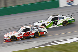 July 13, 2018 - Sparta, Kentucky, United States of America - John Hunter Nemechek (42) and Tyler Reddick (9) battle for position during the Alsco 300 at Kentucky Speedway in Sparta, Kentucky. (Credit Image: © Chris Owens Asp Inc/ASP via ZUMA Wire)