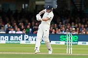 Ben Stokes of England plays an attacking shot during the International Test Match 2019 match between England and Australia at Lord's Cricket Ground, St John's Wood, United Kingdom on 18 August 2019.