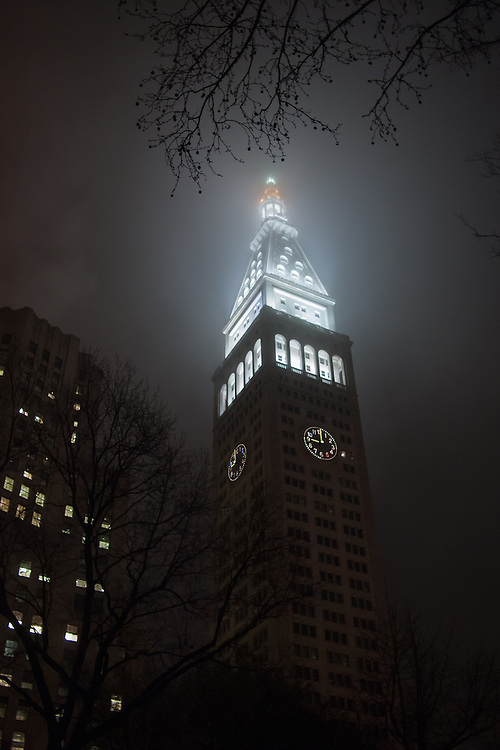 The Metropolitan Life Insurance Compay tower at 1 Madison Avenue, by Pierre Le Brun of Napoleon Le Brun & Sons, erected 1893, and altered by Lloyd Morgan in 1964.
