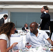 **EXCLUSIVE**.Tara Smith, Roger Micheal and Richard Haines..Ella Krasner's Lunch to Benefit AMEND..Sponsored by David Morris..2010 Cannes Film Festival..Hotel Du Cap..Cap D'Antibes, France..Monday, May 17, 2010..Photo ByCelebrityVibe.com.To license this image please call (212) 410 5354; or Email:CelebrityVibe@gmail.com ;.website: www.CelebrityVibe.com.