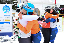 Super Combined and Super G, FITZPATRICK Menna Guide: KEHOE Jennifer, B2, GBR, PERRINE Melissa Guide: KELLY Bobbi, AUS at the WPAS_2019 Alpine Skiing World Championships, Kranjska Gora, Slovenia
