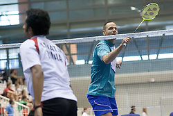 Luka Petric of Slovenia during match at Slovenia Open Badminton tournament 2012, on May 12, 2012, in Medvode, Slovenia. (Photo by Grega Valancic / Sportida.com)