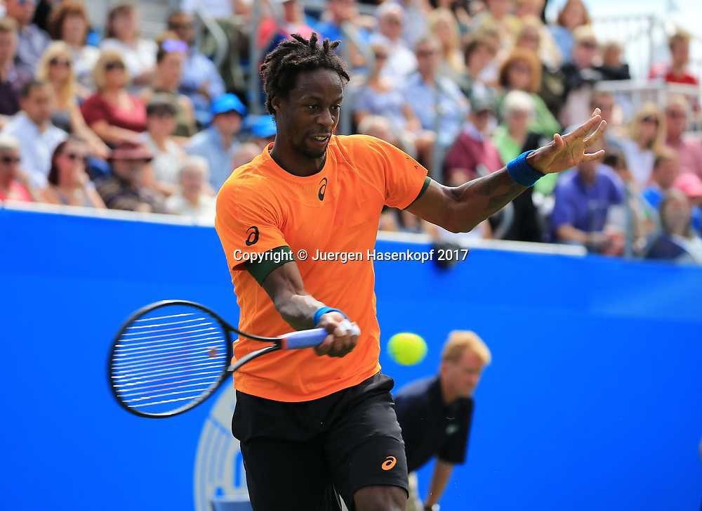 GAEL MONFILS (FRA) Finale, Endspiel<br /> <br /> Tennis - Aegon International Eastbourne - ATP -  Devonshire Park Lawn Tennis Club - Eastbourne -  - Great Britain  - 1 July 2017. <br /> &copy; Juergen Hasenkopf
