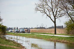 Mieke Kröger (GER) leads the break at Healthy Ageing Tour 2019 - Stage 2, a 134.4 km road race starting and finishing in Surhuisterveen, Netherlands on April 11, 2019. Photo by Sean Robinson/velofocus.com