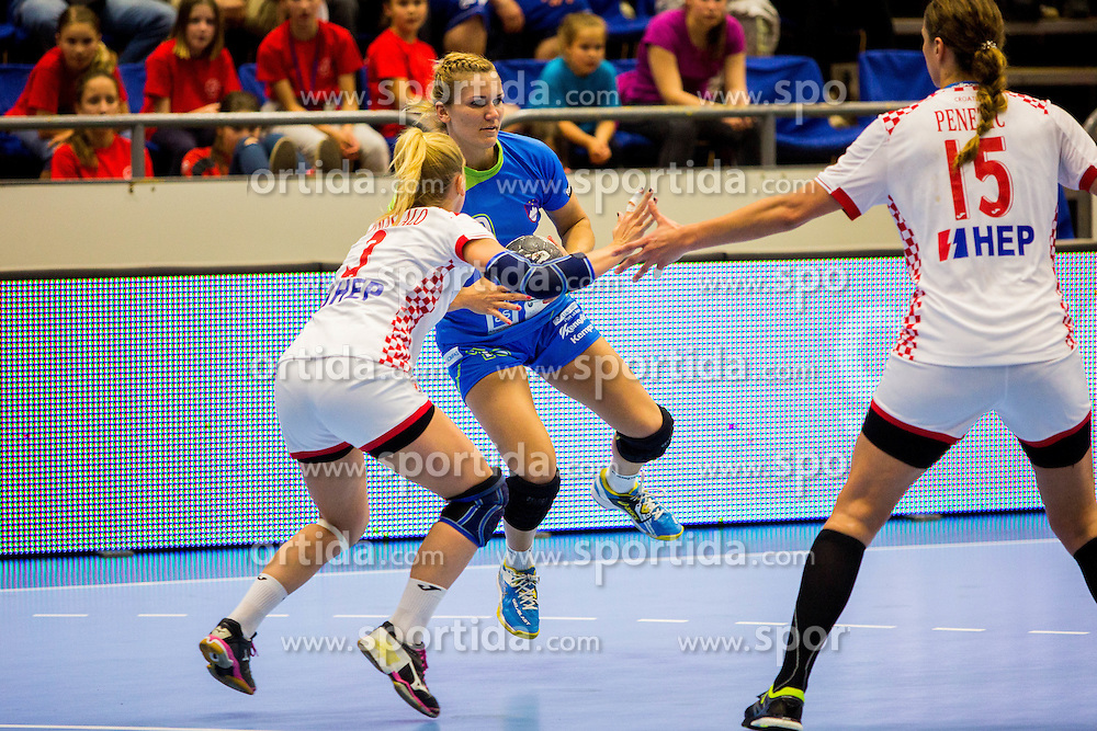 Neli Irman of Slovenia during handball match between Women national teams of Slovenia and Croatia in Round #5 of Qualifications for Women's EHF EURO 2016 Championship in Sweden, on June 1, 2016 in Arena Golovec, Celje, Slovenia. Photo by Ziga Zupan / Sportida