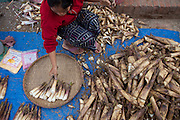 Luang Prabang, Laos. Morning food market.