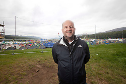 Jim King, festival director, Sunday at Rockness 2012..©Michael Schofield..