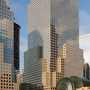 Three World Financial Center, part of the World Financial Center complex in downtown New York City, NY
