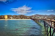 Ventura, CA, Wooden Pier, Scenic, beautiful, Pacific Ocean, Waves, Pier, Wood Planks