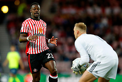 Lamine Kone of Sunderland and Jason Steele  - Mandatory by-line: Matt McNulty/JMP - 04/08/2017 - FOOTBALL - Stadium of Light - Sunderland, England - Sunderland v Derby County - Sky Bet Championship