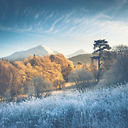 Frosty morning shot of Ben More and Stob Binnein from Strath Fillan