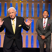 "TO TELL THE TRUTH - ""Episode 303"" - Mel Brooks, Nikki Glaser, Cloris Leachman and Michaela Watkins make up the celebrity panel, on ""To Tell the Truth,"" MONDAY, SEPTEMBER 18 (10:01-11:00 p.m. EDT). The panel is presented with a variety of participants with interesting traits, from a monster truck driver to ""a dating disaster"" to a kindergarten teacher by day and pro wrestler by night. (ABC/Lisa Rose)<br /> MEL BROOKS, ANTHONY ANDERSON"