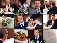 Ernesto Bertarelli Photographed at Hix Restaurant, Mayfair for Boat International. 24th April 2013.