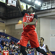 Rio Grande Valley Vipers Forward Clint Capela (32) drives towards the basket in the first half of a NBA D-league regular season basketball game between the Delaware 87ers and the Rio Grande Valley Vipers (Houston Rockets) Saturday, Dec. 27, 2014 at The Bob Carpenter Sports Convocation Center in Newark, DEL