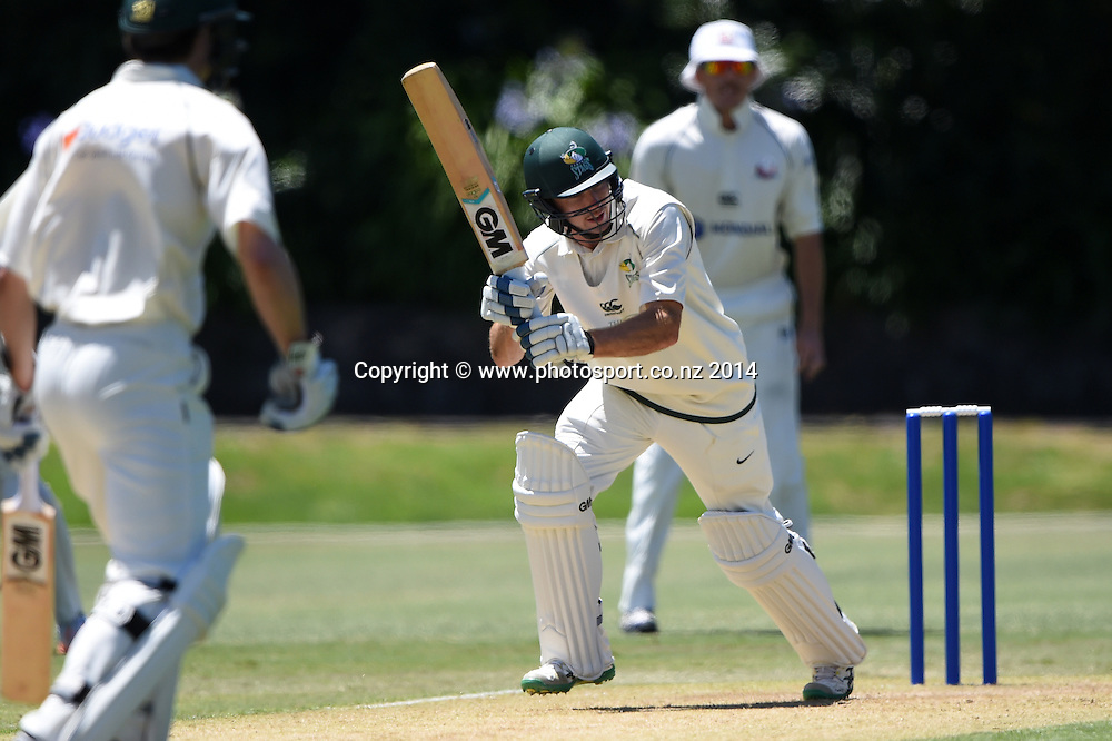 CD's Ben Smith batting during the Plunket Shield 4 day cricket match between Auckland Aces and Central Stags at the Eden Park Outer Oval, Auckland, New Zealand. Friday 19 December 2014. Photo: Andrew Cornaga/www.Photosport.co.nz