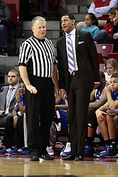 22 December 2015: Mike Stuart talks with Dana Ford. Illinois State Redbirds host the Tennessee State Tigers at Redbird Arena in Normal Illinois (Photo by Alan Look)