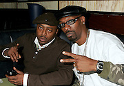 NEW YORK - OCTOBER 24: Comedians (L-R) Donnell Rawlings and Charlie Murphy attend the 6th Annual High Times Stony Awards at B.B. King's on October 20, 2006 on Broadway in New York City.